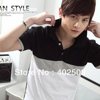 Korean Style 2013 summer casual short-sleeve polo t-shirt for male Promotional casual shirts fashion trend top quality