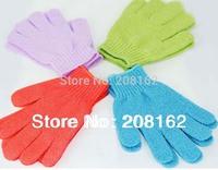 1 Pcs Exfoliating Bath Glove Five fingers Bath Gloves Intrafamilial Gloves (mix order 10 usd)