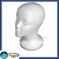 Mannequin Display Foam Head Female Model White For Hat Hair Wigs Headset Microphone Free Shipping