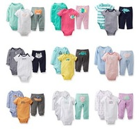 Original Carters Baby Boys Girls Clothings Sets, Carters Baby Models (Bodysuits+Pants)3pcs Set, There are gifts in Stock