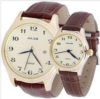 Free shipping JULIUS JA-532 2013 new arrival fashion julius  woman and man watches lover watches