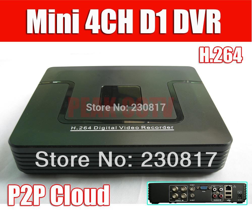 264 видеонаблюдения dvr рекордер p2p облако 4ch полный d1 видеонаблюдения d