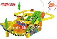 freeshipping Hyperspeed child toy electric car rotary slide three-dimensional toy trains electric toy slides with cars car slide
