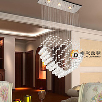 Free shipping popular design guaranteed 100% promotion sales L600*W200*H700mm heart shape  crystal  ceiling lighting/lamp