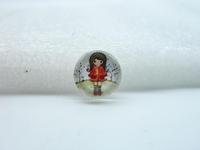 10pcs 12mm Handmade Photo Glass Cabochons (Girl) GB19-15