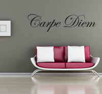 Carpe diem, Waterproof Removable vinyl  Wall sticker/home decal, free shipping