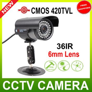 "420TVL 1/4"" color cmos 36LED Day & Night Waterproof CCTV Security Camera"