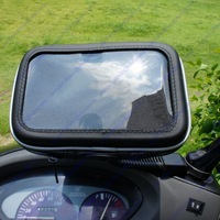 5 inch Waterproof GPS Phone SatNav Case Motorcycle Scooter Rear View Mirror Mount Stand Free shipping