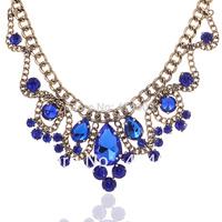 Free Shipping Wegirl 2013 Handmade Vintage Acrylic Stone Statement Jewelry Necklace Vintage Jewelry Fashion NecklaceN065