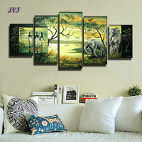 Dreaming Life  5pcs  Oil Painting 100% Handmade Modern Landscape Oil Painting On Canvas Wall Art Gift  ,Top Home Decoration Z014