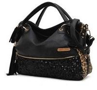 Hot Casual  Fashion New Tassel Lady Korean Hobo PU Leather Handbag Shoulder Bag Large Capacity Freen Shipping
