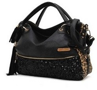 2013 Fashion New Tassel Lady Korean Hobo PU Leather Handbag Shoulder Bag Large Capacity Freen Shipping 0014