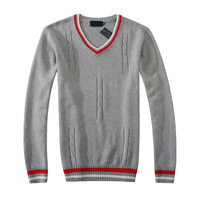 Wholesale&retail 2013 New Arrival! Men sweaters fashion pullovers V-Neck sweater Knitwear style sweater! 3 color gift