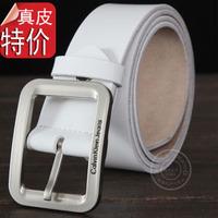 Ckj male strap genuine leather belt lovers genuine leather white Women wide belt