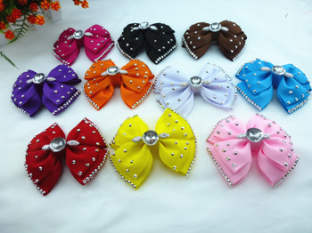 2013  fashion bowknot headwear  Elegant Lovely Full Dazzling   bow for girls hair  bows with clips