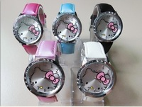Free & Drop Ship! 30PCs Hello Kitty Lady Students Girls Womens Woman Fashion Gift Quartz Wrist Watch, 5 Colors Available