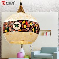Fashion natural shell square grid dining room pendant light bar lamp 2043