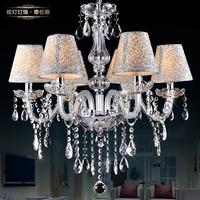 Lamp lighting fashion belt fashion brief lamp cover crystal pendant light hall lamp 8006 (6 lights)