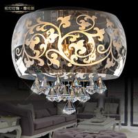 Lamp lighting brief crystal ceiling light laser carved bedroom lights xd400 40CM
