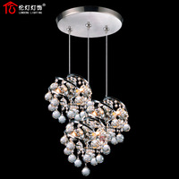 Lamps modern brief 3 crystal pendant light bar lamp 1013