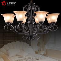 Q fashion brief antique pendant light rustic wrought iron lighting lamps ch003 (8 lights)
