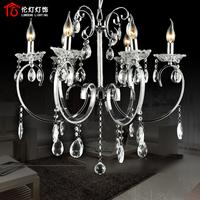 Fashion brief crystal lamp wrought iron crystal art lamp lamps 5208