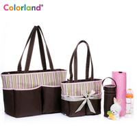 Colorland Fashion Elegant Nappy Bag Baby Diaper Bag Set Buy One Bag Get Three Bag bolsa maternidade