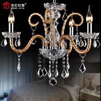 Lamp lighting fashion luxury lifter dual crystal lamp restaurant lamp pendant light 1306