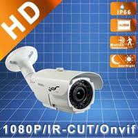 IPS 1080P Waterproof H.264  2.8-12mm Onvif  IR Outdoor HD Bullet  IP Megapixel Security Cameras With POE (IPS-EA1812)