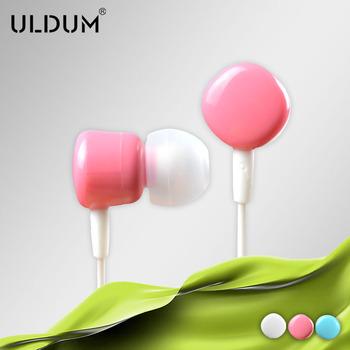ULUDM chocolate shape in-ear earphone with mic for skype phone mp3 mp4