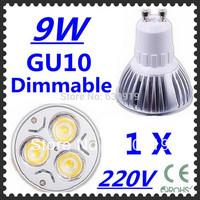 High power CREE GU10 3x3W 9W 220V Dimmable Light lamp Bulb LED Downlight  FREE  SHIPPING