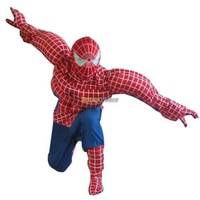 New Arrival Deluxe Spiderman Mascot Costume, Superhero Spider-Man Mascot With Helmet and Mini Fan! Free Shipping FT30445