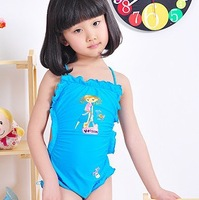 Free shipping ! New Arrival ! Child swimwear little girl spaghetti strap bellyached bathing dress female child swimwear