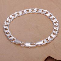 "VSBC Excellent Qualtity 8"" Fashion Trendy Unisex 925 Sterling Silver Plated Singapore Chain Bracelets for women men wholesale"