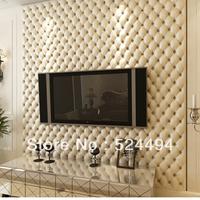 Glan fashion faux leather three-dimensional soft bag wallpaper ofhead tv background wall wallpaper massifs roll 53x1000cm xqw215