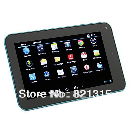 NEW DHL Free shipping 7 tablet pc AllwinnerA20 ARM Cortex A7 Android4 2 Dual Core capacitive