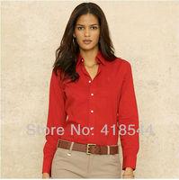 Free Shipping POLO Tops Shirts for Women clothing Blouse fashion long sleeve shirt brand cotton 4 colors women shirts casual