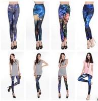 HOT!! Fashion Chic Women Galaxy Leggings SEXY Night Space Print Pants Milk Sky Stretchy Women's Leggings