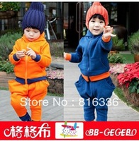 2013 autumn winter boy children clothing set letters print kids sport suit with hood free shipping