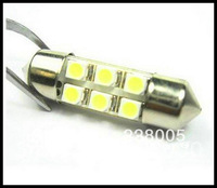 Free shipping led 31mm  White 1210 3528  6 LED Festoon Dome LED Light Bulbs , Door lights, Reading lights Boot lights