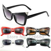 Free shipping!Fashion Women Sunglasses Lady Gaga Cat Eye Womens Glasses Brand New Retro Vintage Ladies Glasses 120-0028