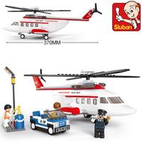 Sluban blocks aviation world private helicopter 259pcs/set M38-B0363 Children's enlightenment educational assembly building toys