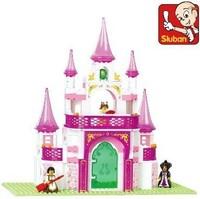 Sluban blocks pink dream fantasy palace 271pcs/set M38-B0153 Children's enlightenment educational assembly building blocks toys