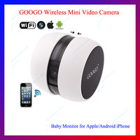 Free shipping Mini Googo Wireless WiFi Video Camera Baby Monitor for iPhone,iPad and Samsung Android Mobile Phone