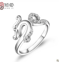 Love China Wind 925 sterling silver ring  dragon single jewelry and gifts