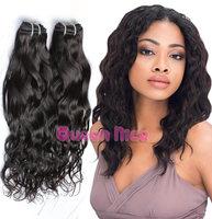 QNice Hair Brazilian Virgin Hair Natural Wave Hair Extensions Unprocessed Virgin Brazilian Water Wave Human Hair Weave