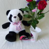 best quality plush big eyes panda toy