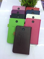 For Samsung  Galaxy Tab3  7.0 T210 Leather Cover Case Wholesale ,9 Color ,DHL free shipping .