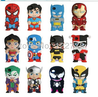 Hot items 3D Superman character Cartoon Iron Man Batman Silicon Case for iPhone 4 4S 5 5 5S