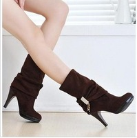 botas women 2013 spring and autumn high-heeled shoes fashion boots motorcycle boots mujeres feminina